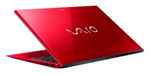 SVP1321BPXR Vaio Pro 13 Red Edition Side View
