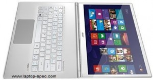 Aspire S7 Series Ultrabook S7-391-9411 180 degree Opened